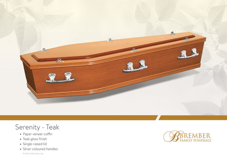 Serenity Teak Casket