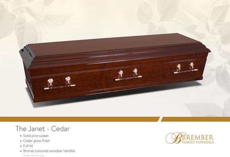 The Janet Cedar Casket